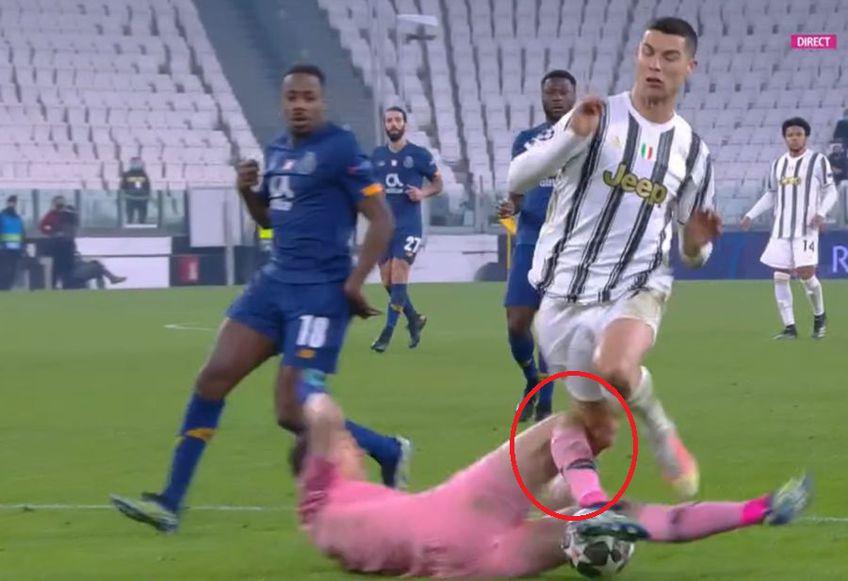"""Juventus ar fi trebuit să beneficieze de un penalty cu Porto (3-2 după prelungiri, 4-4 la general), în manșa retur a """"optimilor"""" de finală din Liga Campionilor. Este părerea fostului mare arbitru internațional Ion Crăciunescu @Captură Digi Sport"""