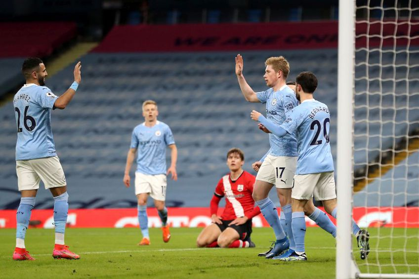Manchester City - Southampton 5-2. foto: Guliver/Getty Images