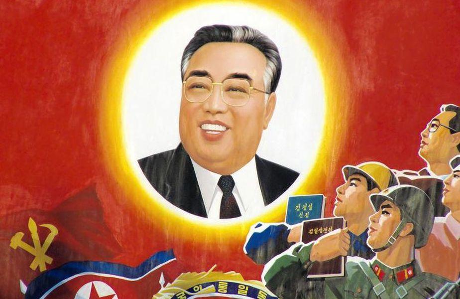 Kim Ir Sen în propaganda din Coreea de Nord