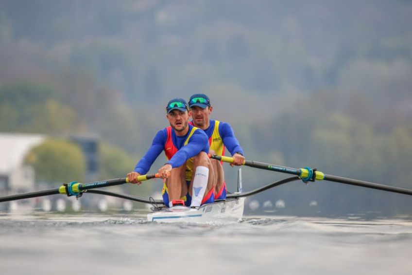 Campionii europeni Ciprian Tudosă și Marius Cozmiuc pot să-și păstreze duminică aurul continental FOTO FR Canotaj