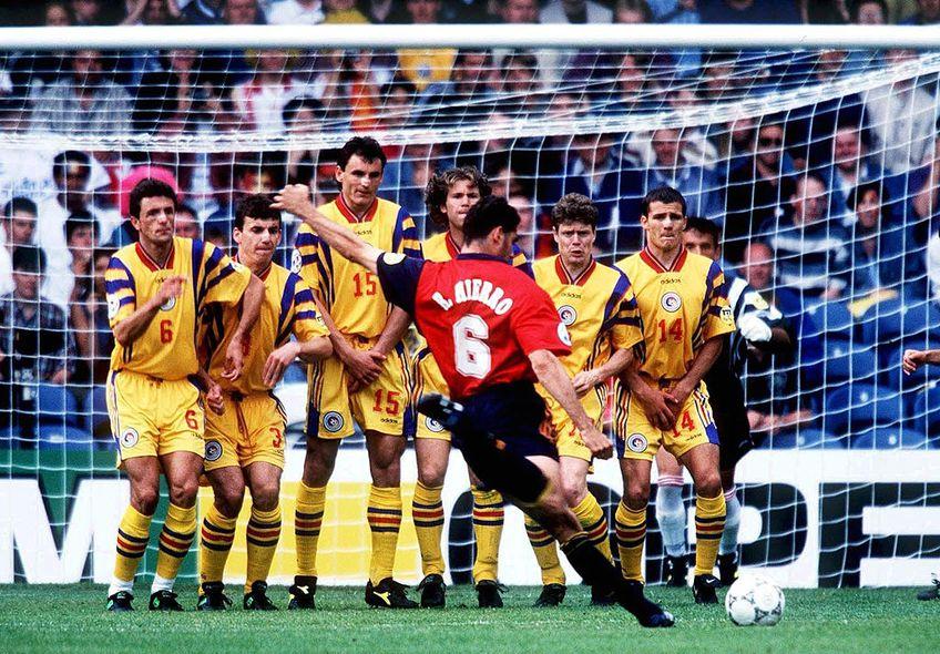 Hierro, în România - Spania 1-2, la Euro 1996