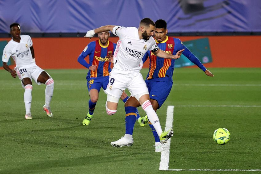 Golul lui Karim Benzema în Real Madrid - Barcelona // foto: Guliver/gettyimages