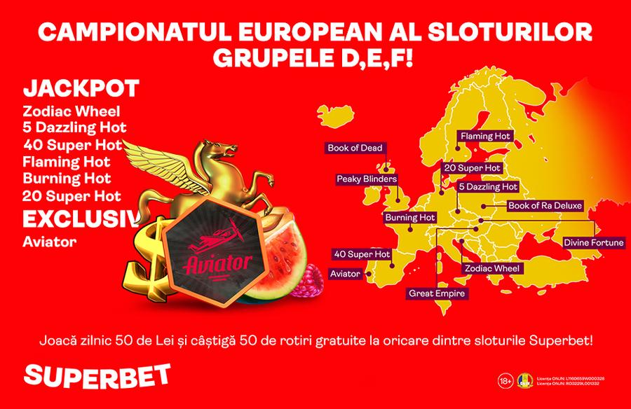 Sloturile Campionatului European sunt la Superbet. Partea 1/2 – Grupele A, B, C
