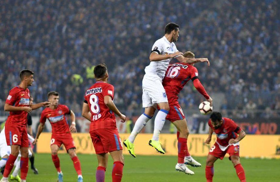 Craiova a obținut singura victorie cu FCSB avându-l pe Bîrsan la centru