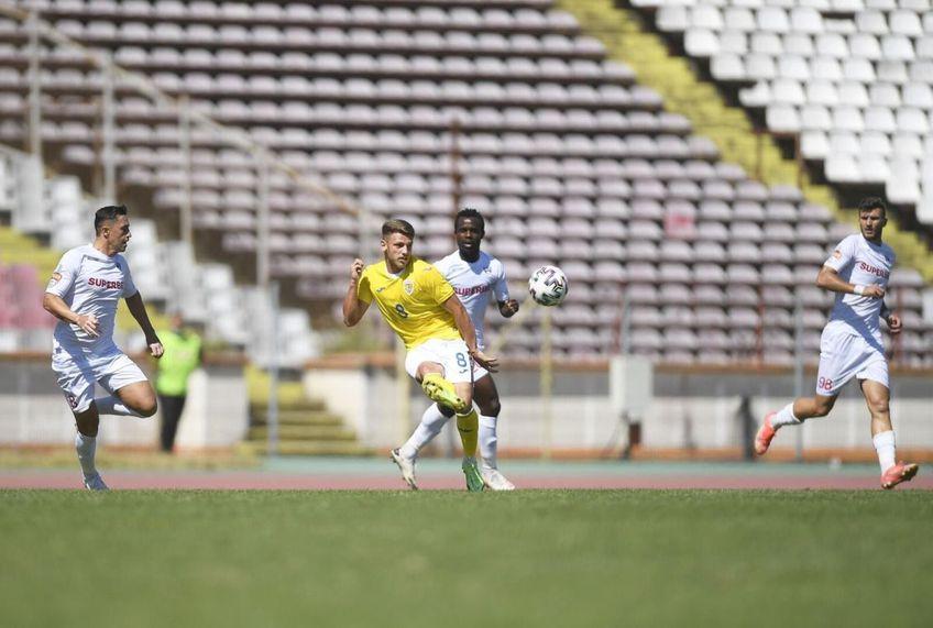 Serges Ekollo, în amicalul dintre FC Buzău și România U21