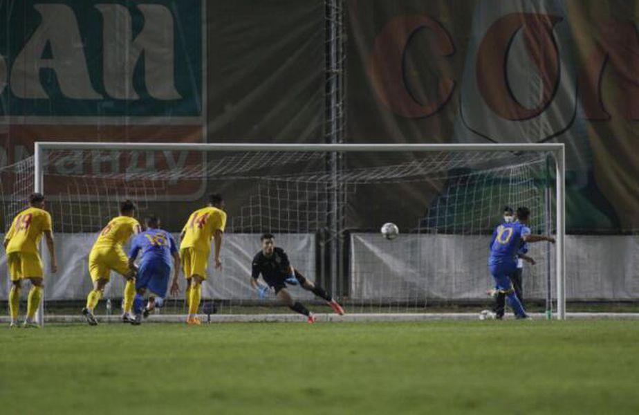 Ucraina U21 a învins România U21, scor 1-0, după un penalty inventat. Foto: FRF