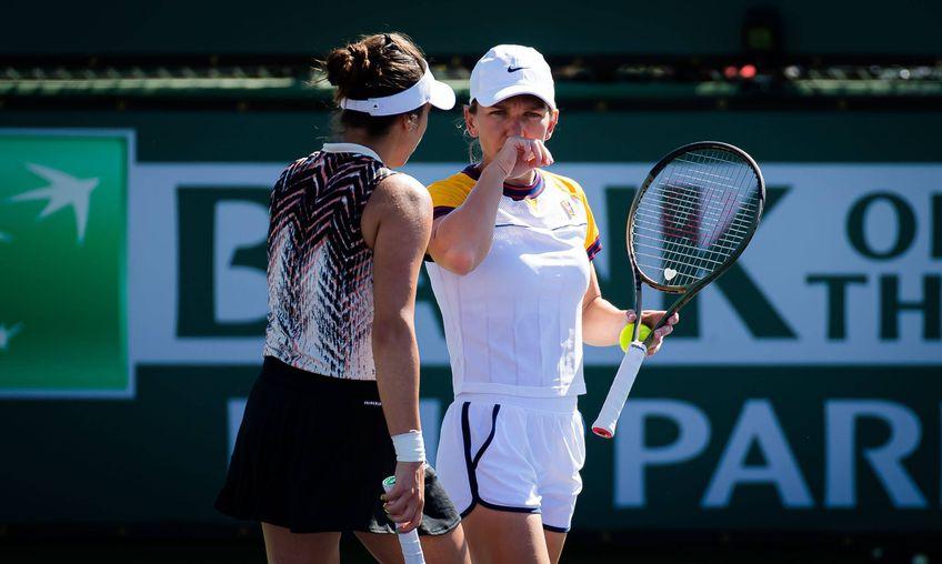 Simona Halep și Gabriela Ruse, eliminate la dublu la Indian Wells // FOTO: Imago