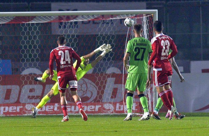 """Rene Hinojo a apărat poarta """"câinilor"""" în Sepsi - Dinamo 2-0"""