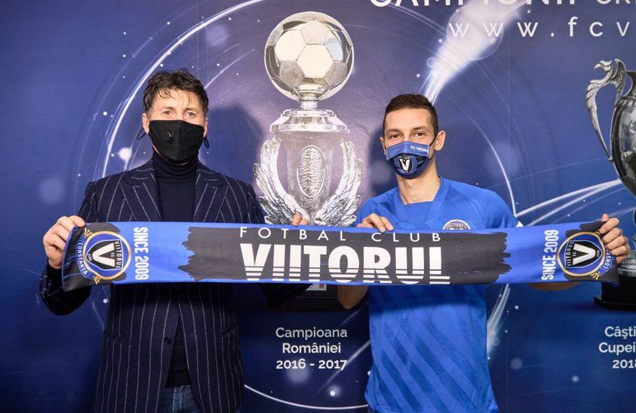 David Babunski a semnat cu Viitorul / Sursă foto: fcviitorul.ro