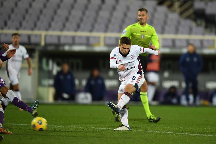 Răzvan Marin a evoluat în 17 meciuri pentru Cagliari în Serie A și a marcat un gol și a oferit o pasă de gol.