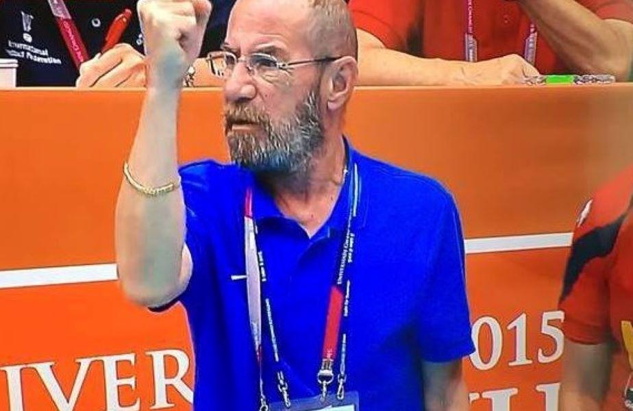 Bogdan Macovei, reacționând în timpul unui meci