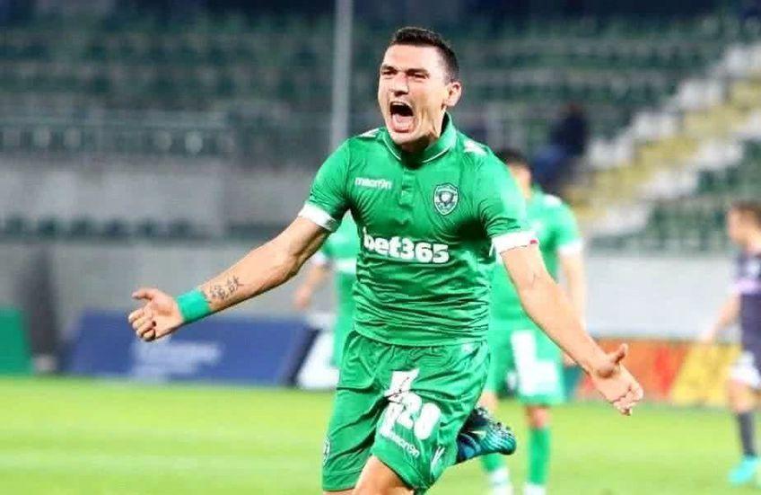 """Claudiu Keșeru (34 de ani, atacant) a marcat ultimul gol al meciului Svoge - Ludogoreț 1-3, din """"16""""-imile Cupei Bulgariei."""