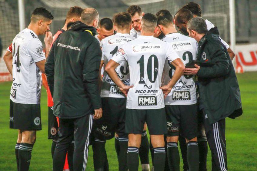 """U Cluj a pierdut la """"masa verde"""" cu Farul // foto: Facebook @ FC Universitatea Cluj"""