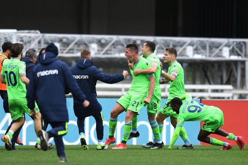Ștefan Radu (34 de ani) a centrat perfect la reușita victoriasă a lui Milinkovici-Savici din minutul 90+2 al meciului Verona - Lazio, scor 0-1.