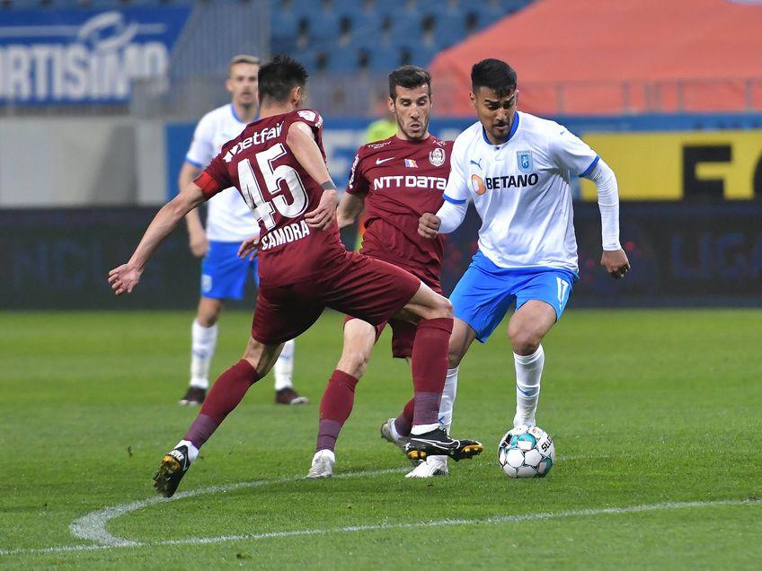 CS Universitatea Craiova și CFR Cluj au remizat, scor 0-0, și au stabilit programul și clasamentul din play-off. FCSB beneficiază de acest lucru și pornește din postura de lider.