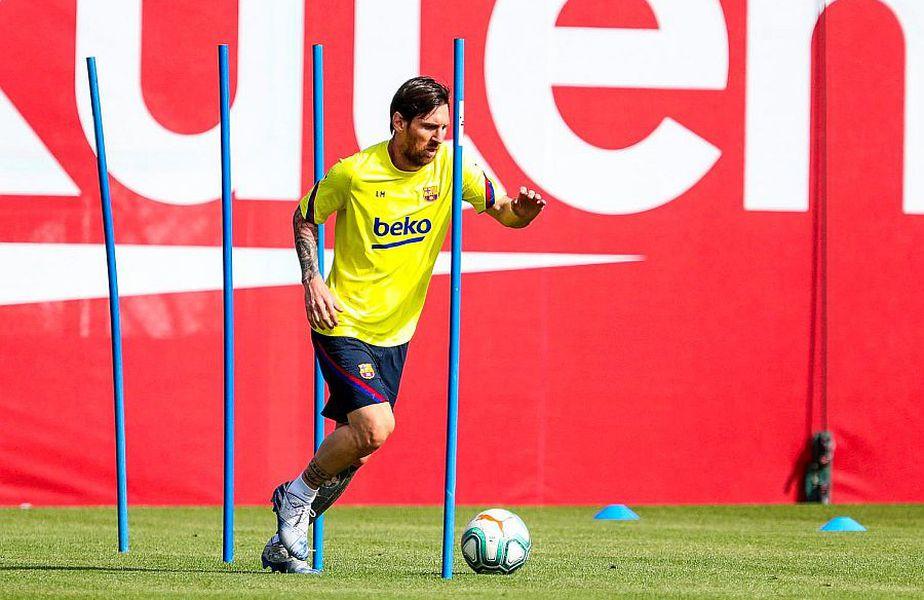 Leo Messi a revenit la antrenamentele Barcelonei // FOTO: facebook.com/fcbarcelona/