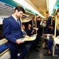 Novak Djokovic alături de cei mai buni jucători din lume în metroul londonez, poză prilejuită de Turneul Campionilor