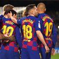 Martin Braithwaite (nr. 19) a bifat 3 partide oficiale pentru Barcelona