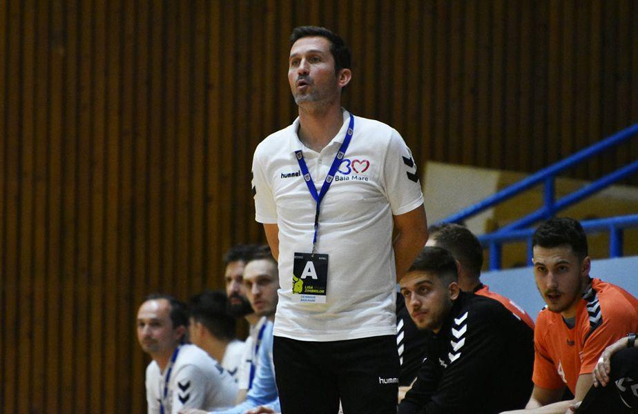 Antrenorul Stephane Plantin FOTO Minaur Baia Mare