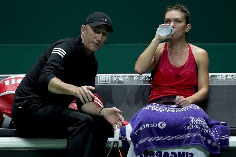 Darren Cahill o cunoaște foarte bine pe Simona și îi anticipează reacțiile Foto Guliver/GettyImages