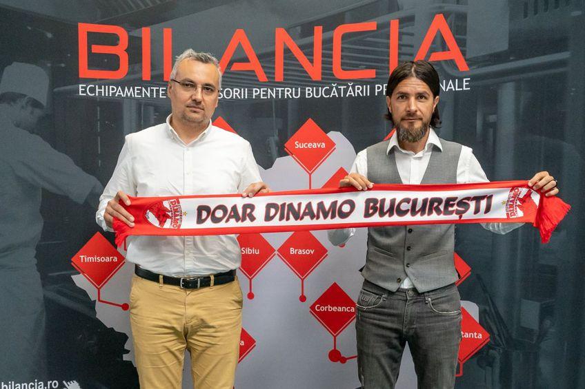 Mario Nicolae, alături de Ionuț Petrescu, Sales Manager Bilancia // fot: facebook @ FC DINAMO BUCURESTI