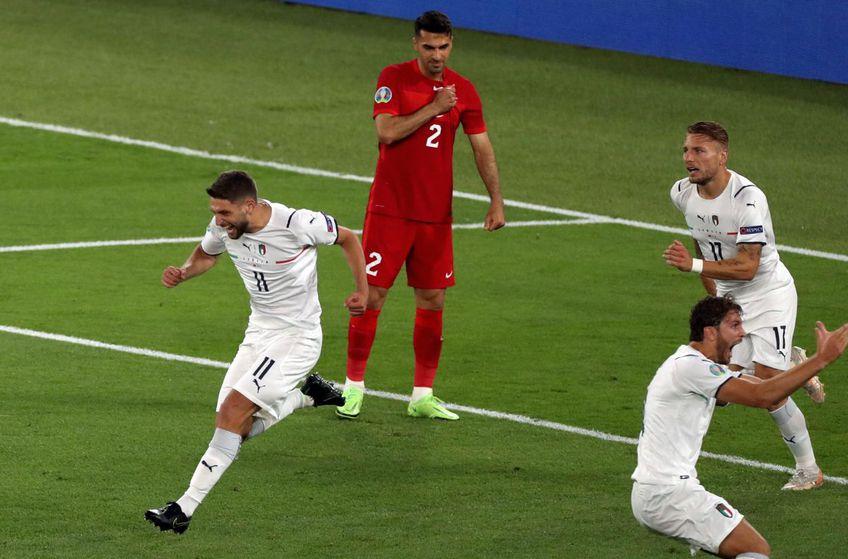 """Italia a învins-o pe Turcia, scor 3-0, în primul meci de la Euro 2020! """"Squadra Azzurra"""" își depune candidatura la trofeu. Ar fi primul după mai bine de 50 de ani."""