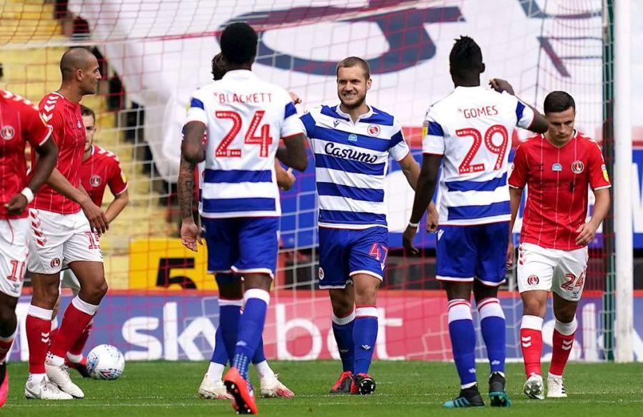 George Pușcaș a marcat în Charlton - Reading 0-1 // foto: readingfc.co.uk