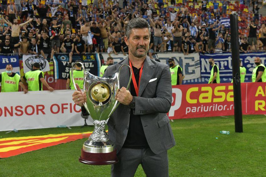 Marinos Ouzounidis și Cupa României // FOTO: facebook.com/UCVOficial