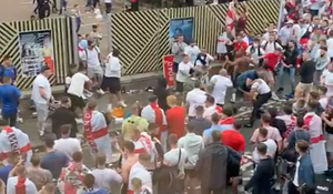 Anglia, sancționată de UEFA după haosul de la finala Euro! Fanii au vrut să invadeze Wembley-ul și s-au bătut cu stewarzii