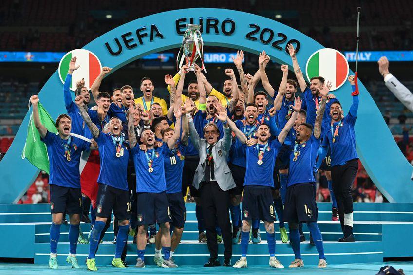 EURO 2020. Italia a învins-o pe Anglia, 1-1 după prelungiri, 3-2 la lovituri de departajare și e noua campioană europeană!