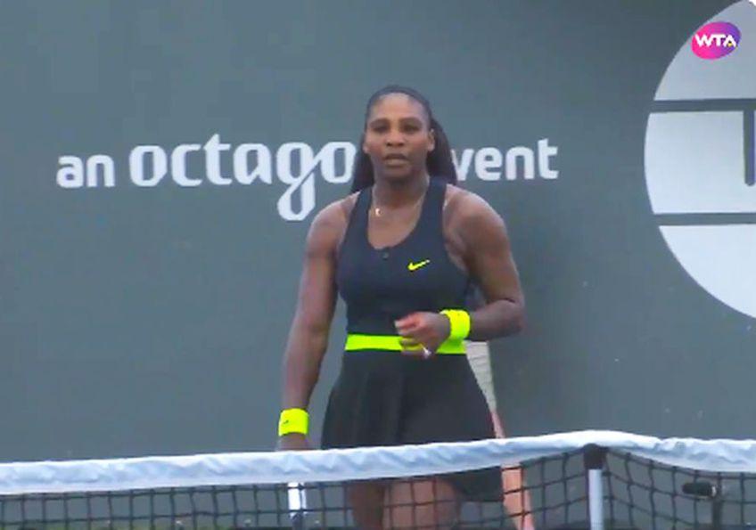 Serena Williams (38 de ani, 9 WTA) a învins-o pe conaționala Bernarda Pera (25 de ani, 60 WTA), scor 4-6, 6-4, 6-1, și s-a calificat în turul secund al turneului WTA de la Lexington, SUA.