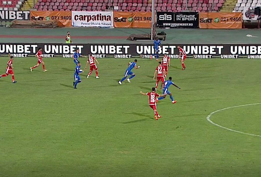 Faza golului lui FC Botoșani // FOTO: Captură Digi Sport