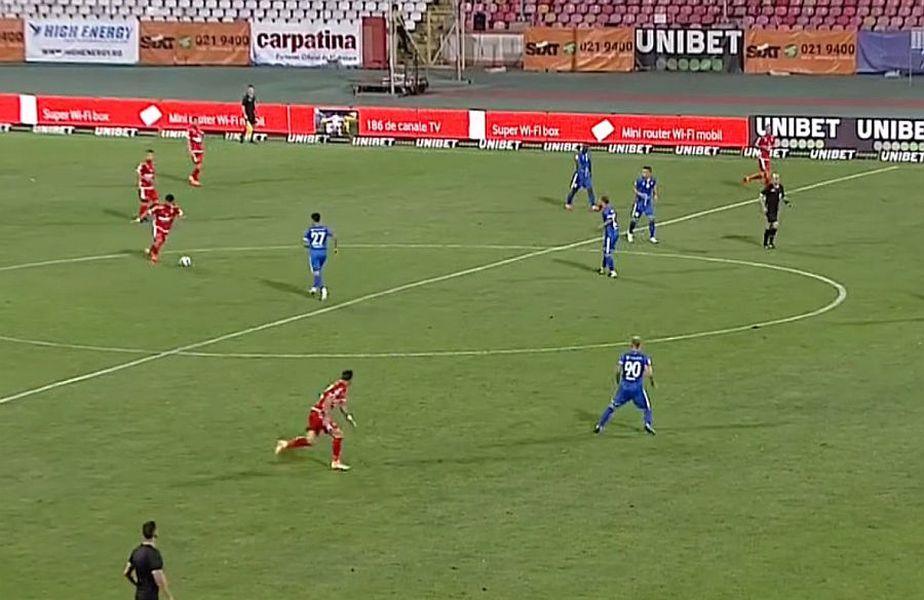 Borja Valle a marcat de la 55 de metri // FOTO: Captură Digi Sport