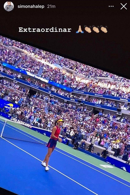 Ce a scris Simona Halep după victoria Emmei Răducanu la US Open 2021