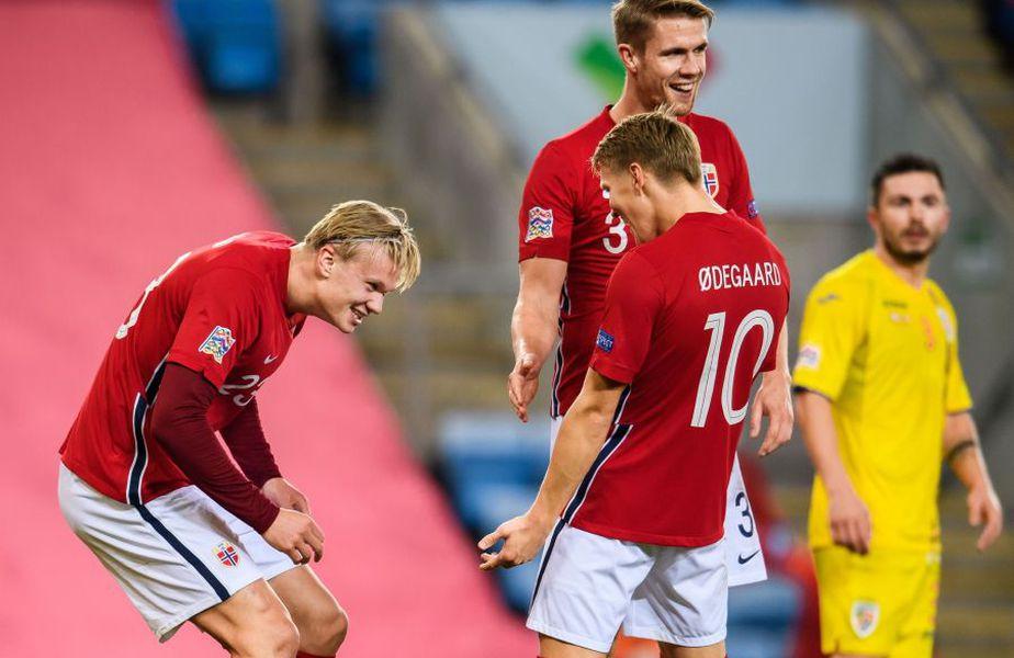 Haaland a marcat 3 goluri în Norvegia - România // foto: Facebook @ Fotballandslaget