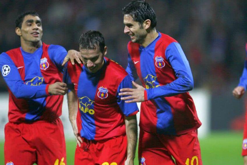 Nicolae Dică (dreapta), la FCSB