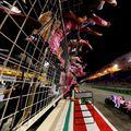 Finalul cursei din Bahrain 2020, câștigată de Sergio Perez Foto Imago Images