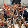 Vestiarul lui Juventus, după victoria cu Inter Milan // sursă foto: twitter @ MATUIDIBlaise