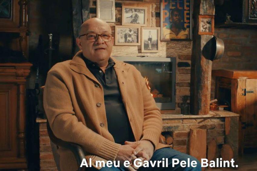 Gavrilă Pele Balint(58 de ani), fostul mare jucător al Stelei și al echipei naționale, promovează documentarul despre brazilianul Pepe (80 de ani).