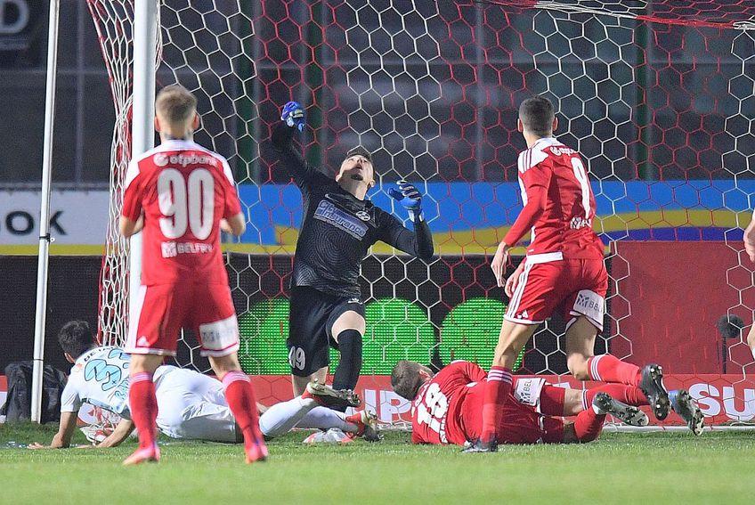 Golul primit de Andrei Vlad la Sf. Gheorghe // FOTO: Raed Krishan