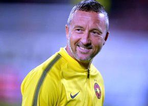 Imagine de colecție cu Mihai Stoica, din cariera de fotbalist a oficialului de la FCSB
