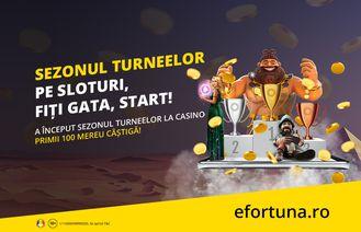 Unic în România! Toată luna aprilie joci la turnee cu premii garantate, în cazinoul online
