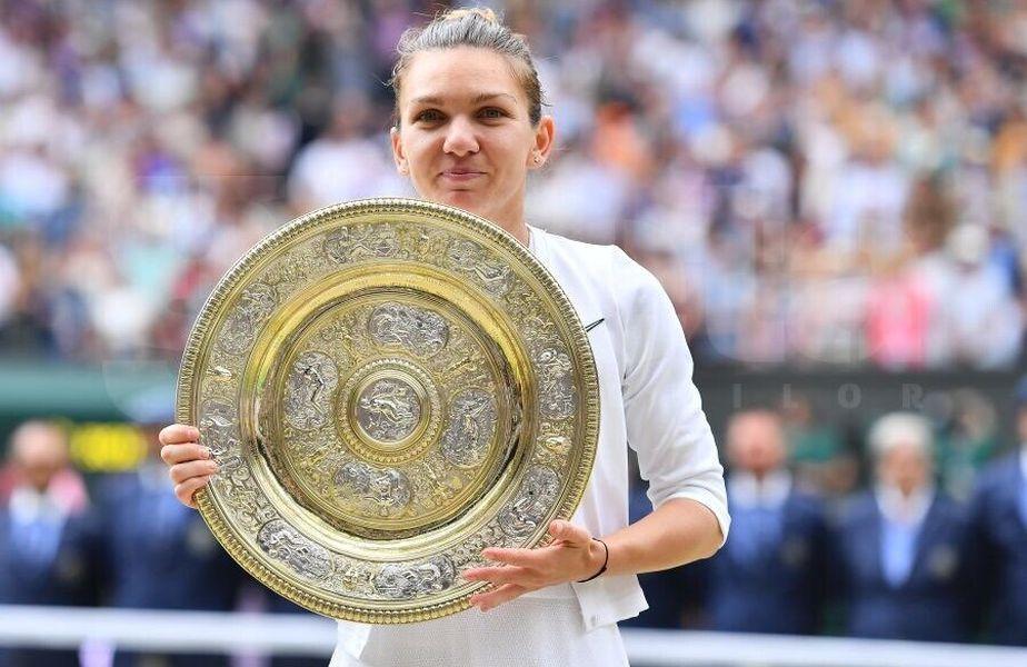 Simona Halep, după triumful istoric de la Wimbledon. foto: Raed Krishan