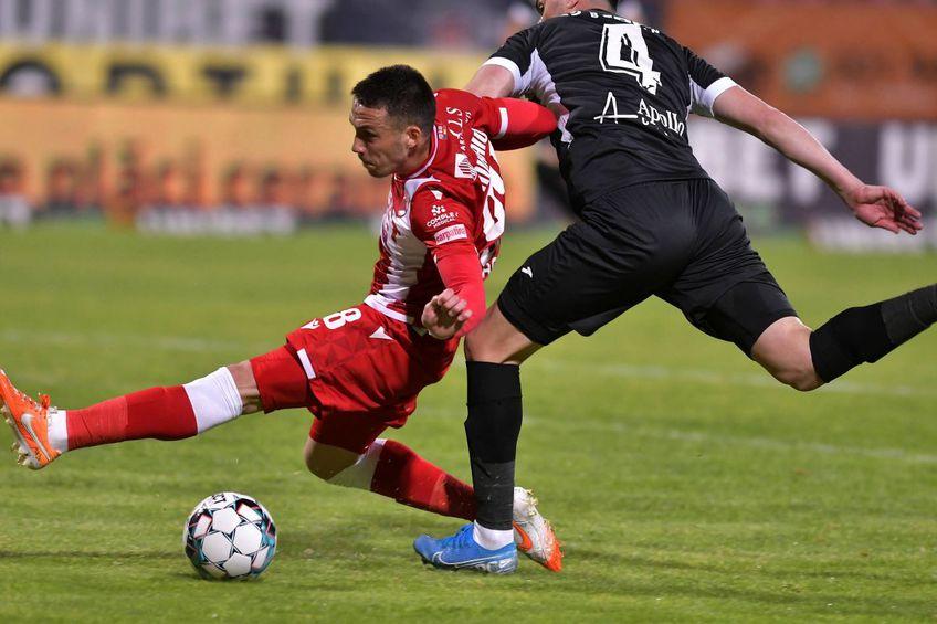 Andreas Mihaiu a obținut un penalty în Dinamo - Hermannstadt 2-0 // foto: Imago