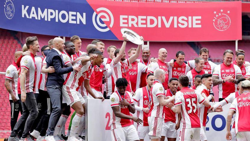 """Ajax a cucerit al 35-lea titlu de campioană în Olanda și a luat o decizie neașteptată. """"Lăncierii"""" au topit trofeul și l-au transformat în steluțe pentru abonați!"""