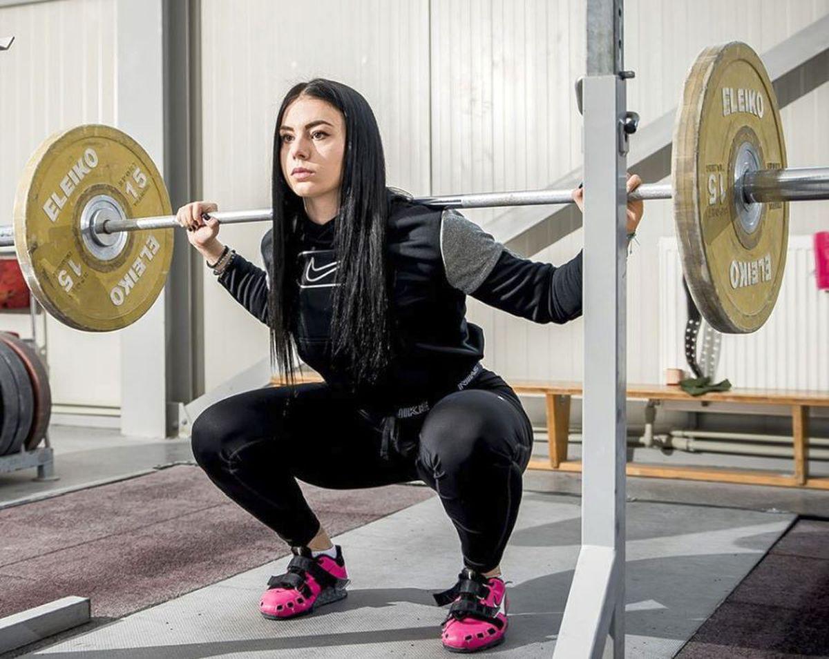 Cea mai sexy halterofilă din România, Maria Luana Grigoriu, a fost depistată pozitiv cu stanozolol
