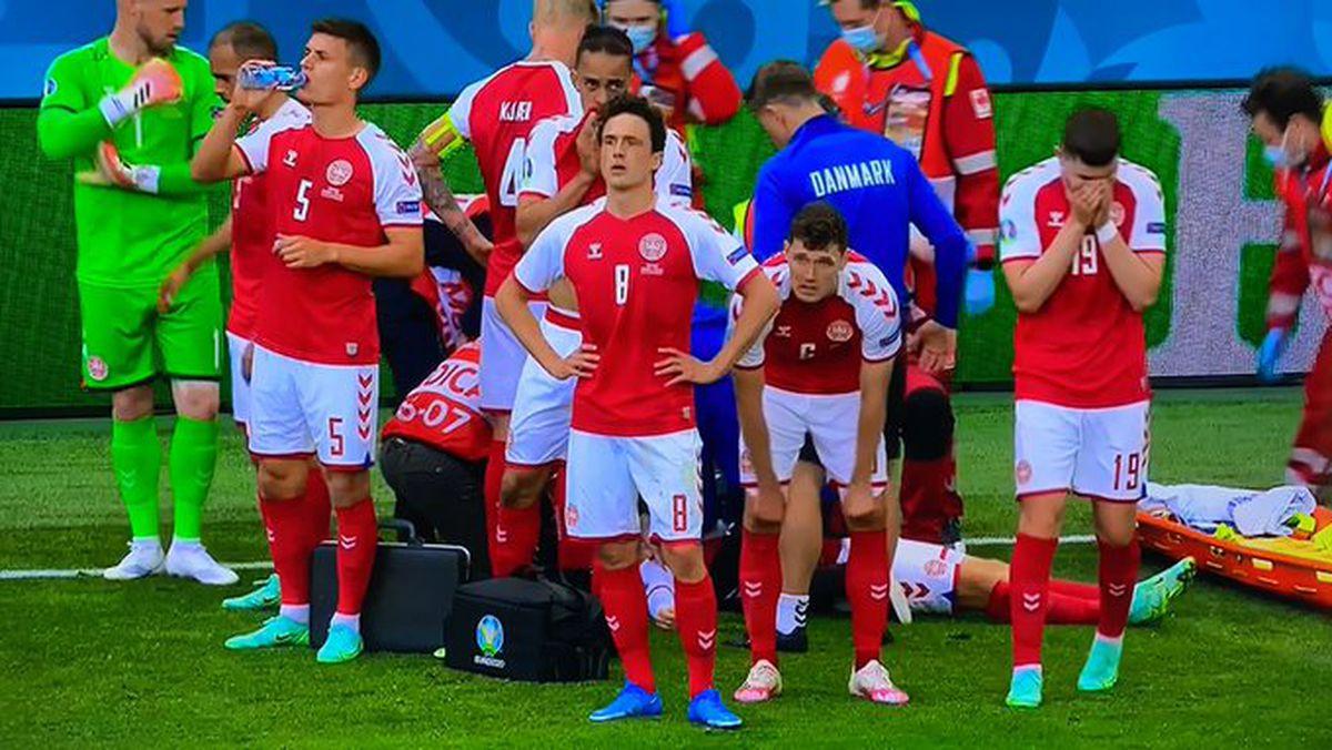 Momente dramatice în Danemarca - Finlanda. Christian Eriksen, resuscitat pe gazon