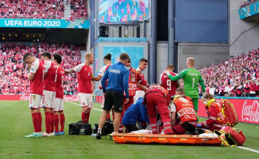 EURO 2020. Christian Eriksen (29 de ani) s-a prăbușit pe gazon în minutul 43 al meciului Danemarca - Finlanda, la scorul de 0-0. Danezul a fost stabilizat ulterior la spital.