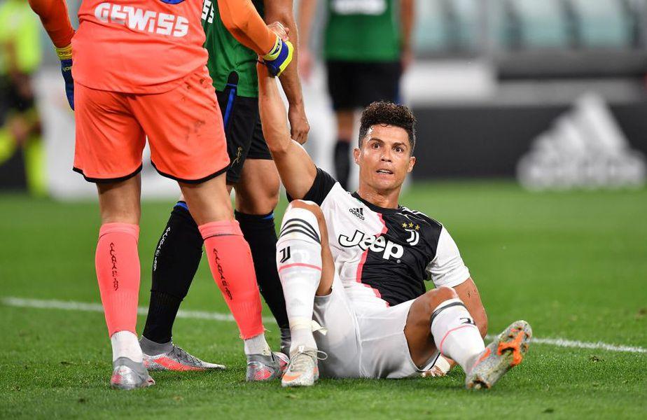 Cristiano Ronaldo a punctat de două ori în Juventus - Atalanta, de fiecare dată din penalty // foto: Guliver/gettyimages