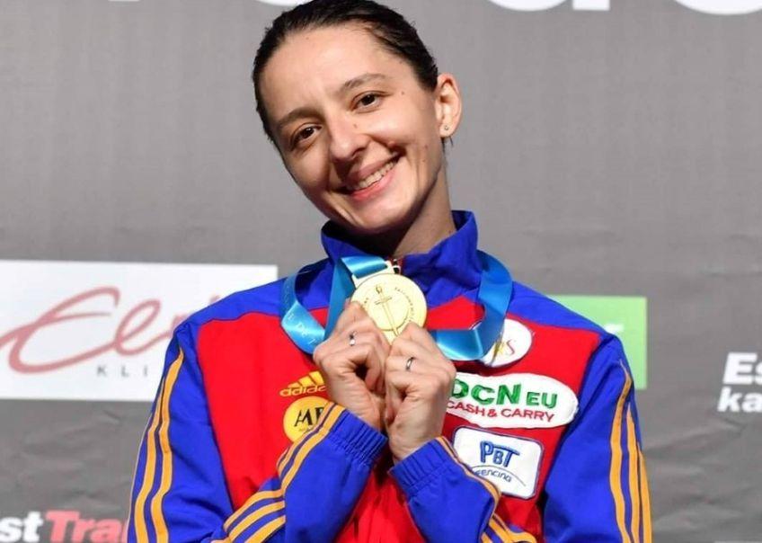 Ana Maria Popescu cuprima medalie a sezonului, cea de la Tallinn FOTO Augusto Bizzi